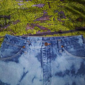 Wrangler Shorts - Vintage WRANGLER M Bleach Denim High Waist Shorts